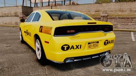 Dodge Charger 2011 Taxi pour GTA 4 Vue arrière de la gauche
