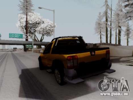 Fiat Strada Adv Locker für GTA San Andreas zurück linke Ansicht