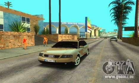 Audi A6 (C5) Avant für GTA San Andreas zurück linke Ansicht