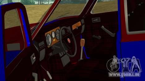 Volga gaz-24 Fun pour GTA San Andreas vue intérieure