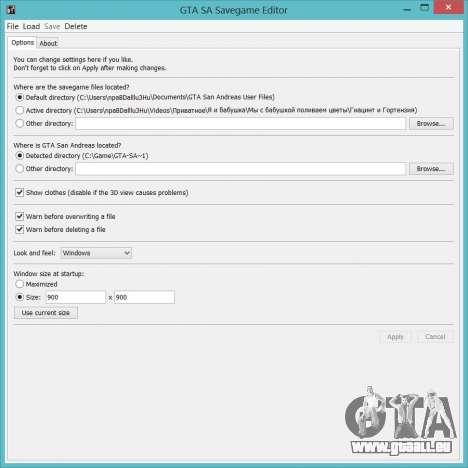 Savegame Editor v3.2 pour GTA San Andreas troisième écran