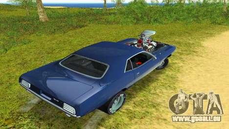 Plymouth Barracuda Supercharger pour GTA Vice City vue latérale