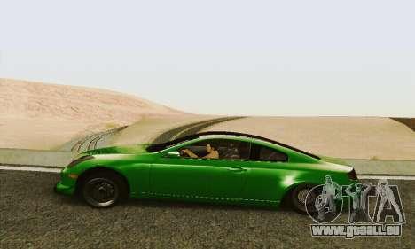 Infiniti G35 Hellaflush pour GTA San Andreas laissé vue