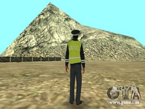 Haut der Mitarbeiter DPS für GTA San Andreas dritten Screenshot