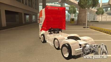 Scania R620 Nis Kamion pour GTA San Andreas vue arrière