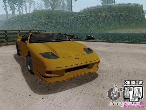Super GT HD pour GTA San Andreas vue arrière