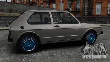 Volkswagen Golf MK1 GTI Update v2 pour GTA 4 est une gauche