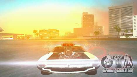 Plymouth Barracuda Supercharger für GTA Vice City rechten Ansicht