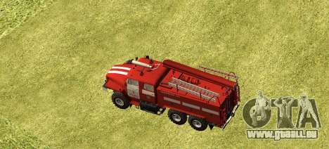 Ural 4320 pompier pour GTA San Andreas laissé vue