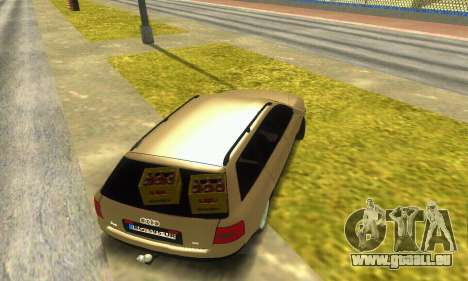 Audi A6 (C5) Avant für GTA San Andreas Innenansicht