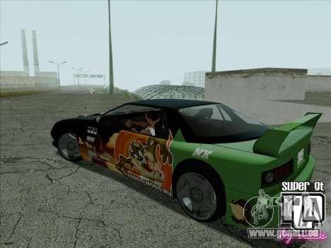 Super GT HD für GTA San Andreas Seitenansicht