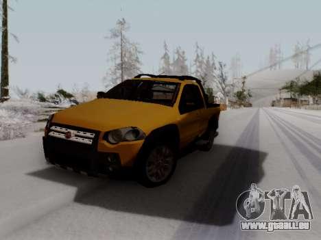 Fiat Strada Adv Locker für GTA San Andreas Rückansicht