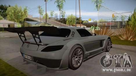 Mercedes-Benz SLS (AMG) GT3 für GTA San Andreas Rückansicht