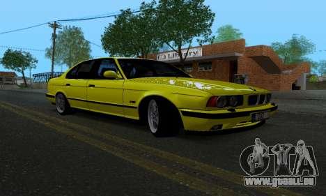 BMW M5 E34 IVLM v2.0.2 pour GTA San Andreas vue arrière