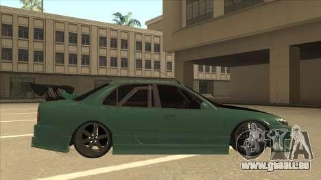 Proton Wira with s15 front end pour GTA San Andreas sur la vue arrière gauche