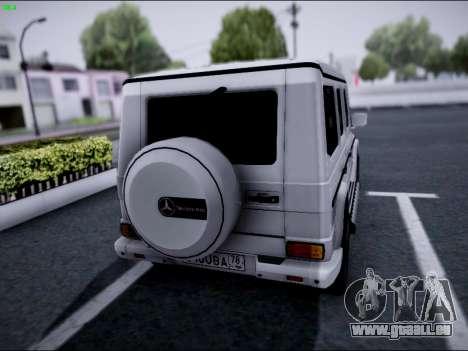 Mercedes-Benz G500 pour GTA San Andreas sur la vue arrière gauche
