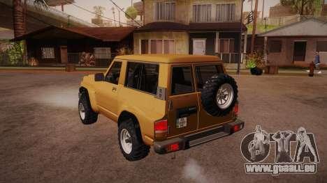 Nissan Patrol Y60 pour GTA San Andreas sur la vue arrière gauche