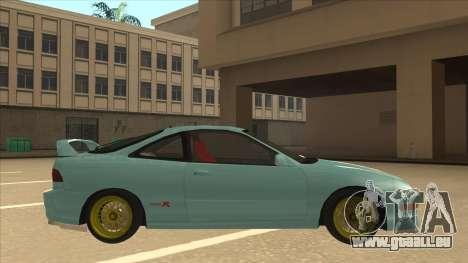 Honda Integra JDM Version pour GTA San Andreas laissé vue