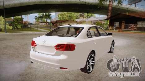 VW Jetta GLI 2013 pour GTA San Andreas vue de droite