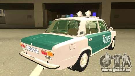 VAZ 21011 DDR police pour GTA San Andreas vue de droite