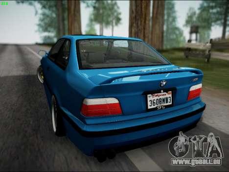 BMW M3 E36 Stance pour GTA San Andreas vue de droite