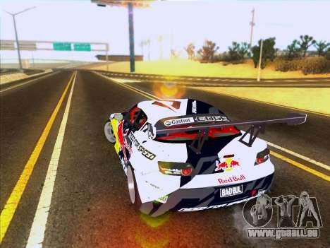 Mazda RX-8 NFS Team Mad Mike pour GTA San Andreas sur la vue arrière gauche