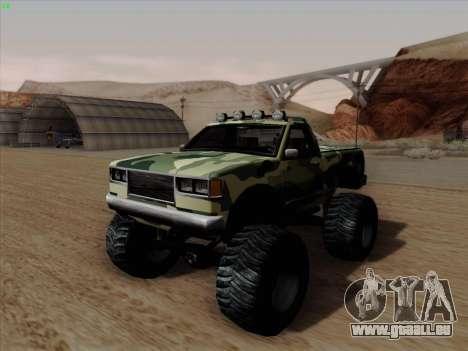 Camouflage pour Monster pour GTA San Andreas sur la vue arrière gauche