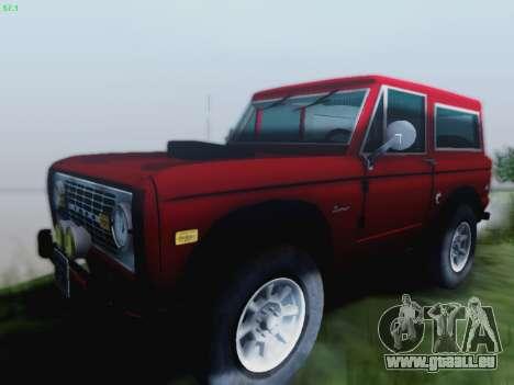 Ford Bronco 1966 pour GTA San Andreas laissé vue