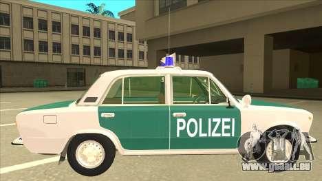 VAZ 21011 DDR police für GTA San Andreas zurück linke Ansicht