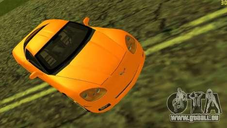 Chevrolet Corvette C6 pour une vue GTA Vice City de l'intérieur