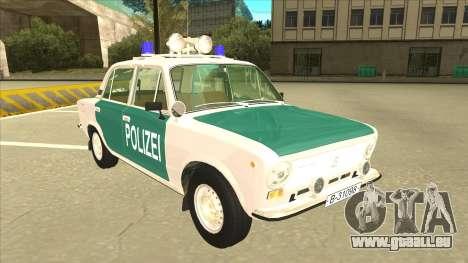 VAZ 21011 DDR police pour GTA San Andreas laissé vue