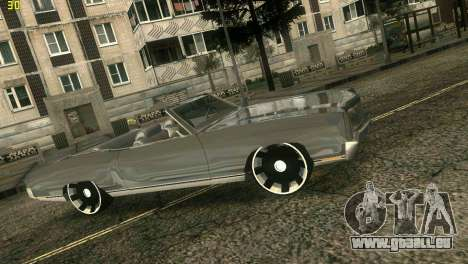 Chevy Monte Carlo pour GTA Vice City sur la vue arrière gauche