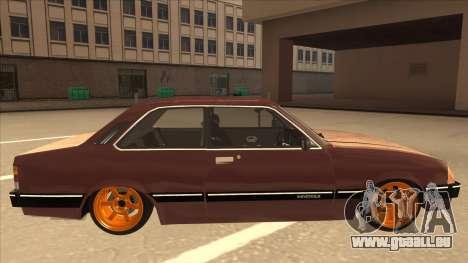 Chevrolet Chevette SLE 88 pour GTA San Andreas sur la vue arrière gauche