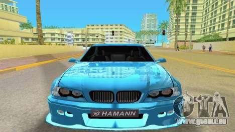 BMW M3 E46 Hamann pour GTA Vice City sur la vue arrière gauche
