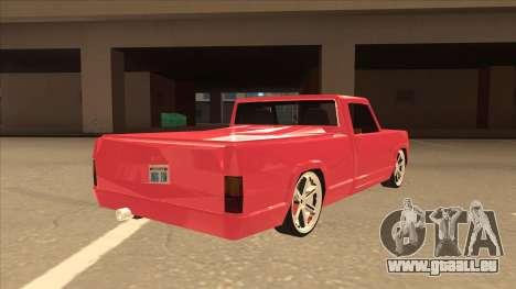 Modified Sadler pour GTA San Andreas vue de droite