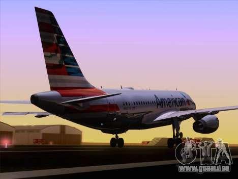 Airbus A319-112 American Airlines pour GTA San Andreas vue de côté