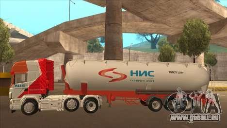 Auflieger zum Scania R620 Nis Nis Kamion für GTA San Andreas Innenansicht