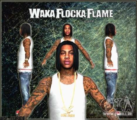 Waka Flocka Flame skin pour GTA San Andreas troisième écran