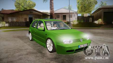 Volkswagen Golf Mk4 pour GTA San Andreas vue arrière