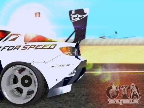 Mazda RX-8 NFS Team Mad Mike pour GTA San Andreas vue de droite