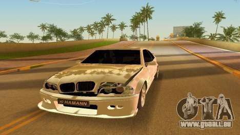 BMW M3 E46 Hamann pour GTA Vice City vue latérale