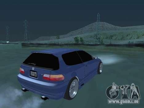 Honda Civic (EG6) 1994 pour GTA San Andreas laissé vue