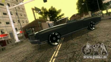 Chevy Monte Carlo pour GTA Vice City vue arrière