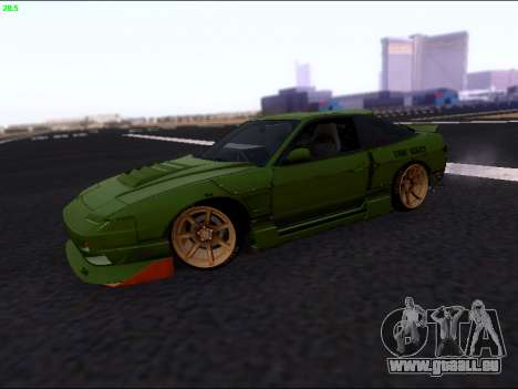 Nissan 180sx Takahiro Kiato für GTA San Andreas linke Ansicht