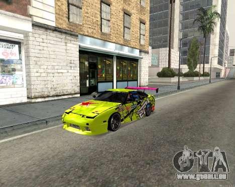 Nissan 240sx Drift pour GTA San Andreas laissé vue