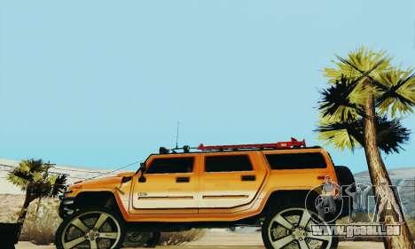Hummer H2 Monster für GTA San Andreas linke Ansicht