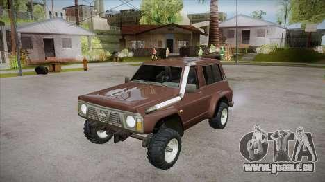 Nissan Patrol Y60 für GTA San Andreas Unteransicht