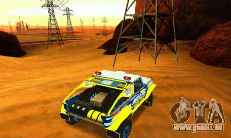 UAZ 31514 Rally pour GTA San Andreas vue intérieure