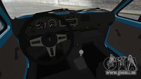 Volkswagen Golf MK1 GTI Update v2 pour GTA 4 est une vue de l'intérieur