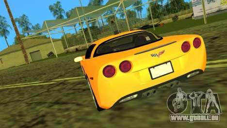 Chevrolet Corvette C6 pour GTA Vice City sur la vue arrière gauche